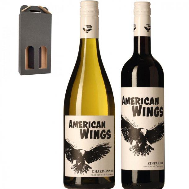 American Wings - Rød & hvid i gaveæske
